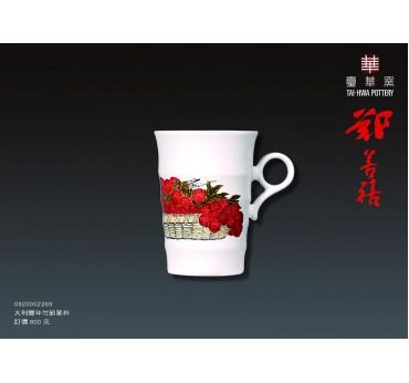 大利豐年甜白釉竹節單杯組/鄭善禧