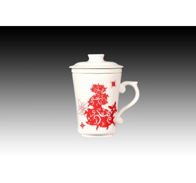 金豬報喜(紅)三件式蓋杯