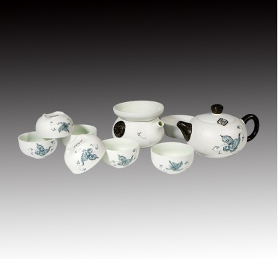 雪花十件式茶具組