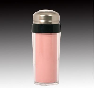 桃紅釉隔熱杯