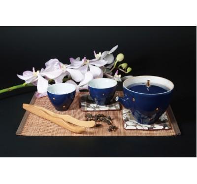 海洋之心一壺二杯茶具組(藍)