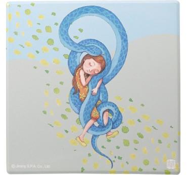 幾米擁抱吸水杯墊-蛇