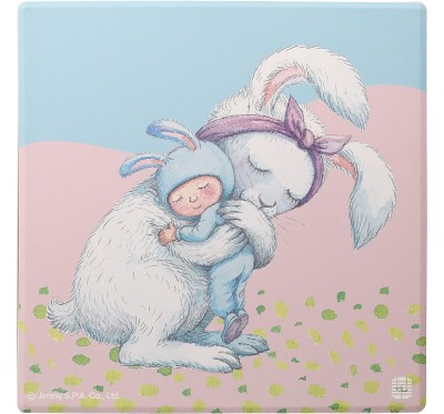 幾米擁抱吸水杯墊-兔