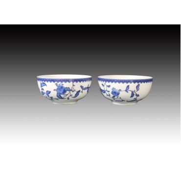 青花石榴骨瓷雙入平口碗禮盒