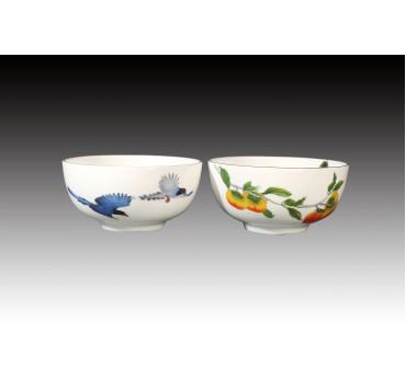 藍鵲飛臨骨瓷雙入平口碗禮盒