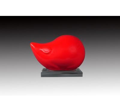 洋紅釉錢鼠