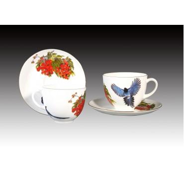 8oz藍鵲吉利骨瓷咖啡對杯禮盒